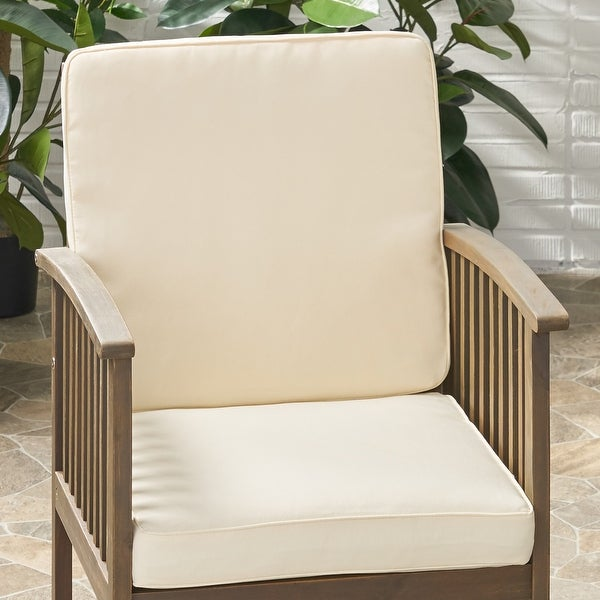 Coesse Outdoor Water Resistant Fabric Club Chair Cushions by Christopher Knight Home. Opens flyout.