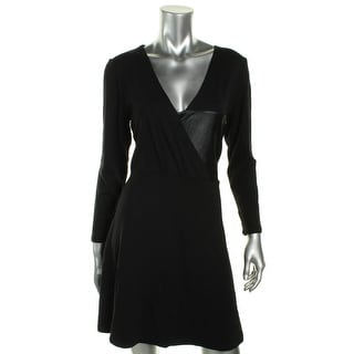 French Connection Womens Casual Dress Faux Wrap Long Sleeves - 12