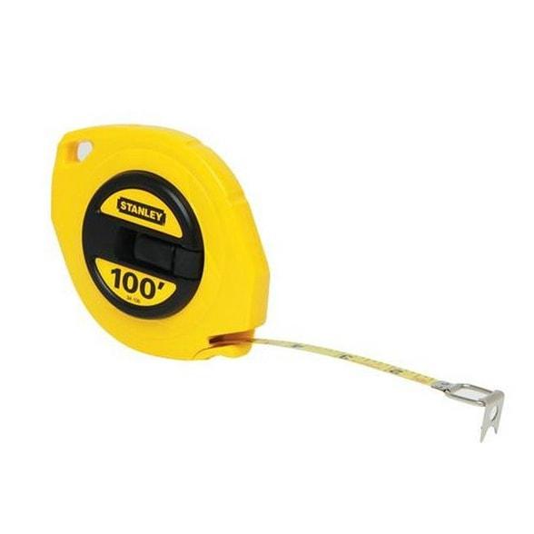 "Stanley 34-106 Long Tape Measure, Yellow, 3/8"" x 100'"