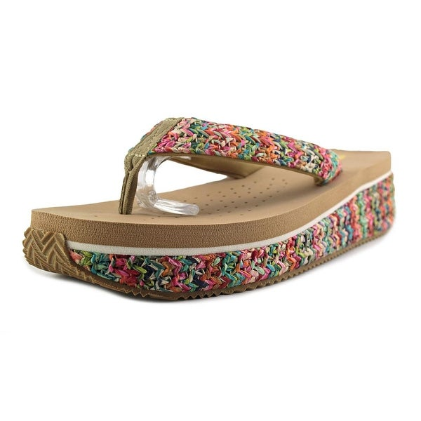 Volatile Rainboom Women Open Toe Canvas Multi Color Thong Sandal