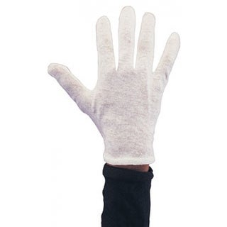 White Cotton Gloves Adult Costume Accessory