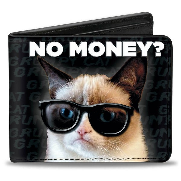 Grumpy Cat No Money? + I'M Not Impressed Bi Fold Wallet - One Size Fits most