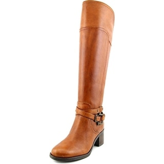 Marc Fisher Kacee Wide Calf Round Toe Leather Knee High Boot