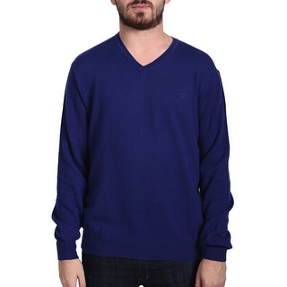 Valentino Men's V-Neck Sweater Blue