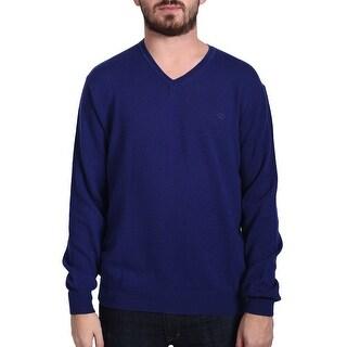 Valentino Men's V-Neck Sweater Blue