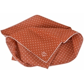 New Gucci 314255 Burnt Orange White Voile Cotton GG Handkerchief Square Scarf