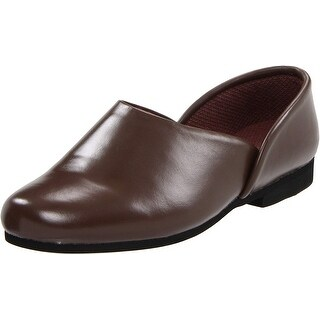 Slippers International Mens Opera Leather Closed Toe Slip On Slippers
