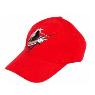 Guy Harvey Male Swoop Marlin Hat , Red, Os