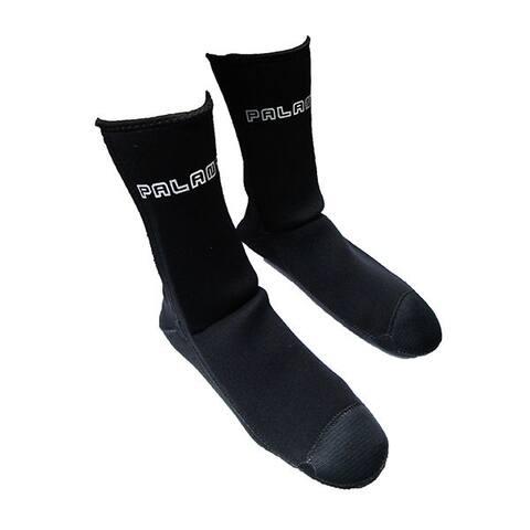 Spearfishing Scuba Dive Palantic Black 3mm Neoprene Socks Extra Warmth Titanium