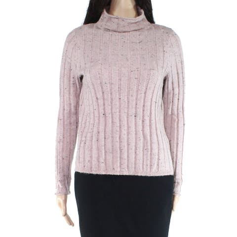 Madewell Women's Sweater Pink Size Large L Turtleneck Donegal Evercrest