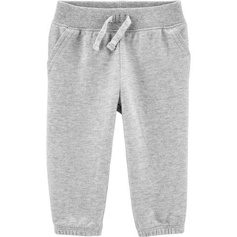 Carter's Boys Pull On Terry Joggers, Heather Grey, 18 Months