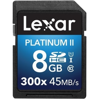 Lexar Platinum II 300x SDHC 8GB UHS-I/U1 (Up to 45MB/s Read) Flash Memory Card - LSD8GBBBNL300