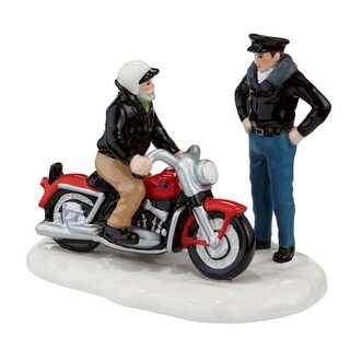"Department 56 Snow Village ""A New '56 Harley-Davidson KH"" Table Piece #4020224"