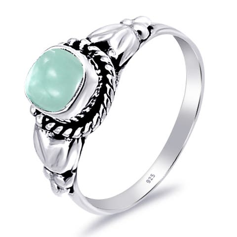 Aquamarine Sterling Silver Cushion Wedding Ring By Orchid Jewelry