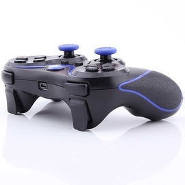 Wireless Bluetooth Game Controller for Sony PS3 Black + Blue Stripe