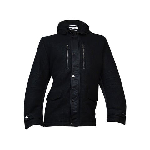 Calvin Klein Hooded Italian-Inspired Jacket (Black, XXL) - Black - XxL