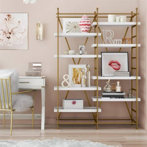 CosmoLiving Yves Metal Bookcase Etagere