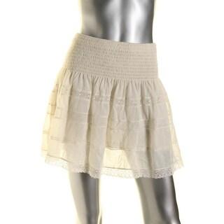 Ralph Lauren Womens Mini Skirt Lace Panel