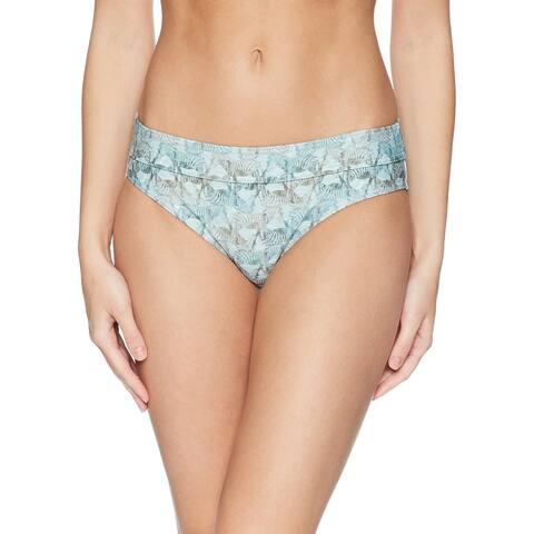prAna Women's Swimwear Blue Size XS Bikini Bottom Zebra Printed Ramba