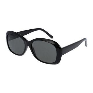 Sl119Mel 002 Black Frame Sunglasses With Smoke Lenses