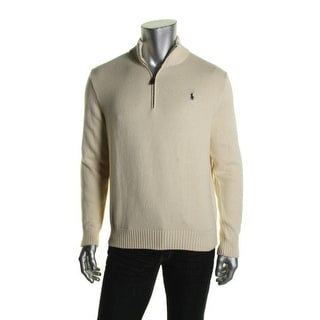 Polo Ralph Lauren Mens Long Sleeves Signature 1/2 Zip Sweater - XL