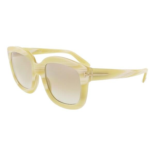 Tom Ford FT0279/S 60G Christophe Beige Horn Square Sunglasses - 53-23-140