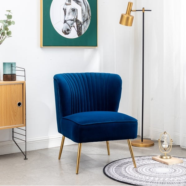 Annabella Mid-Centry Modern Upholstered Armless Accent Chair. Opens flyout.
