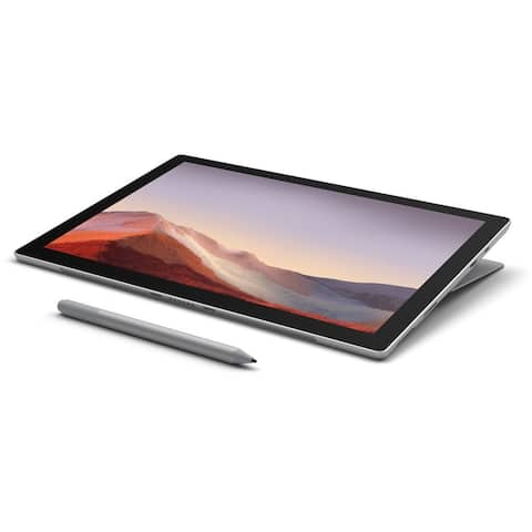 """Microsoft Surface Pro 7 12.3"""" Tablet 256GB WiFi Intel Core i5-1035G4,Silver (Refurbished) - Silver"""