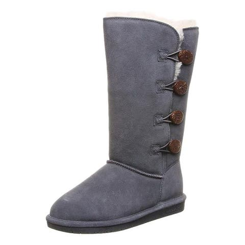 "Bearpaw Casual Boots Womens Lori 12"" Toggle Closure TPR Sole"
