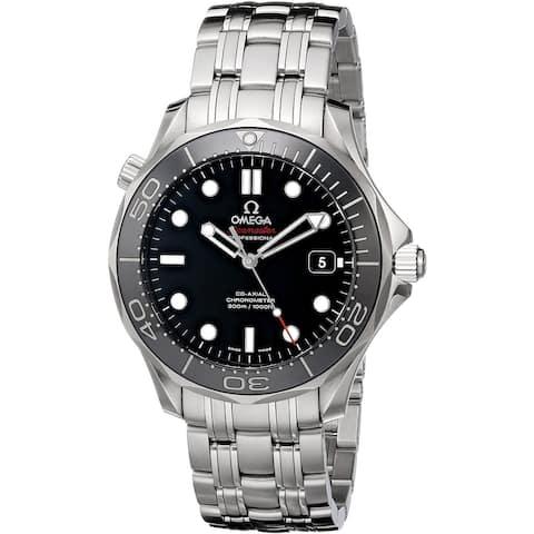 Omega Men's 212.30.41.20.03.003 'Seamaster' Stainless Steel Watch - Black