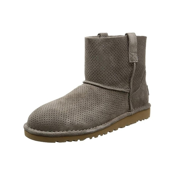 Ugg Womens Classic Ankle Boots Perforated Suede