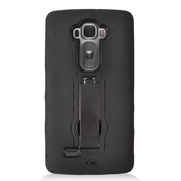 Insten Symbiosis Dual Layer Hybrid Stand Rubber Silicone/ PC Case Cover For LG G Flex 2