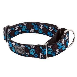 All Webbing Martingale Dog Training Collar - Pitter Patter Chocolate - Medium