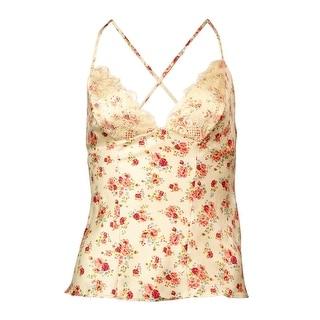 Guess Women's Market Floral Lace Trim Cami
