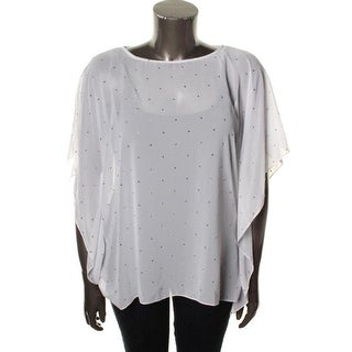 Michael Kors Womens Chiffon Sequined Pullover Top - S/M
