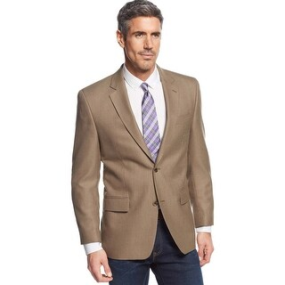 Michael Kors Big and Tall Light Brown 2-Button Sportcoat Blazer 56 Regular 56R