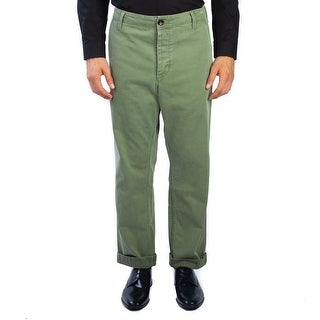 Gucci Men's Cotton Chino Work Pants Olive Green - 33