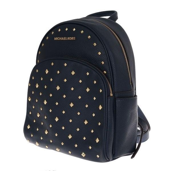 6b55fc03e3e5 Shop Michael Kors Handbags Blue ABBEY Studded Backpack - One Size ...
