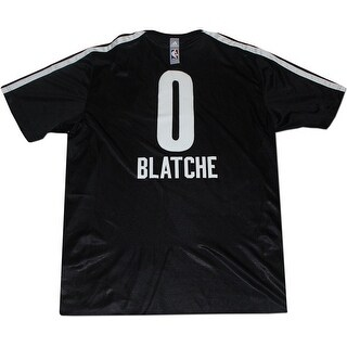 Andray Blatch Shirt Brooklyn Nets 20132014 Game Used 0 Black Name and Number Shooting Shirt