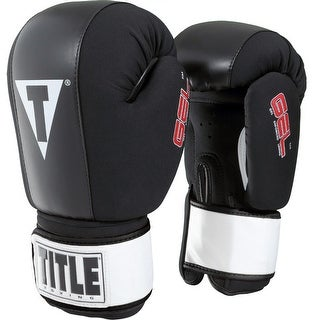 Title Boxing Gel Incite Washable Hook and Loop Heavy Bag Gloves - Large - Black