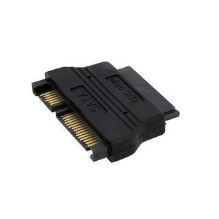 Startech Mcsataadap Micro Sata To Sata Adapter Cable With Power, Black