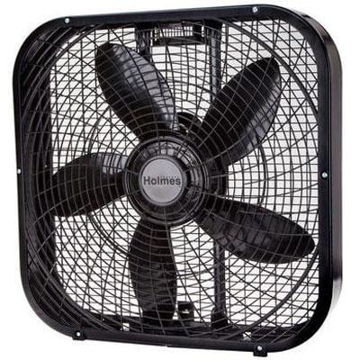 """Jarden Hbf2001dp-Bm Holmes 20"""" Box Fan - 3 Speed-Settings - Black"""