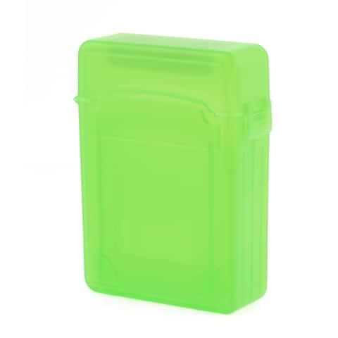 "Unique Bargains Green Protective 2.5"" HDD Storage Plastic Double-Deck Hard Drive Case"