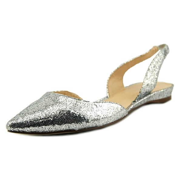Nine West Werein Women Pointed Toe Synthetic Silver Slingback Heel