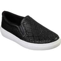 Skechers Women's Goldie Diamond Darling Slip-On Sneaker Black