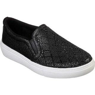 Skechers Women's Goldie Diamond Darling Slip-On Sneaker Black
