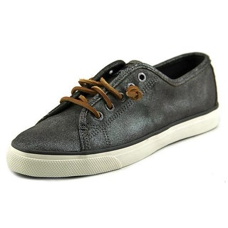 Sperry Top Sider Seacoast Women Round Toe Leather Gray Sneakers
