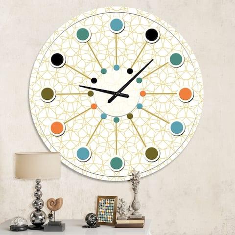 Abstract Geometrical ' Mid-century Wall Clock