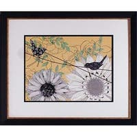 20 x 24 in. Birds On A Wire II Framed Floral Art Print
