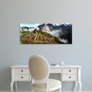 Easy Art Prints Panoramic Image 'Archaeological site, Inca Ruins, Machu Picchu, Cusco Region, Peru' Canvas Art